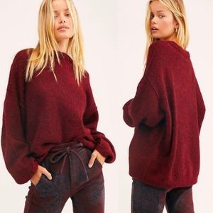 Free People | Angelic Pullover Sweater in Wine | L